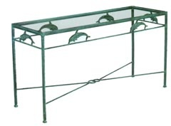 Cast Aluminum Dolphin Table    Console Tables Are Incredibly Versatile.  They Can Be Used