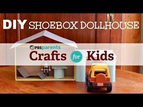 how to make a house using shoebox