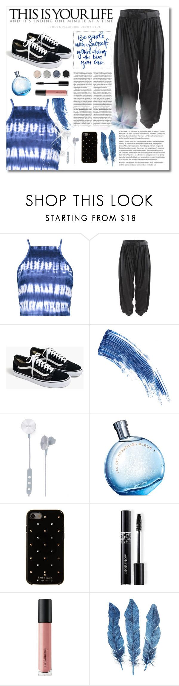 """Untitled #52"" by alyssa-1221 ❤ liked on Polyvore featuring Boohoo, Undercover, J.Crew, Eyeko, i.am+, Hermès, Terre Mère, Kate Spade, Christian Dior and Bare Escentuals"