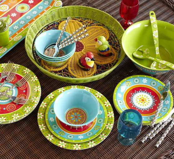 Our Citrus Daisy Dinnerware has colors beyond vibrant : summer dinnerware sets - pezcame.com