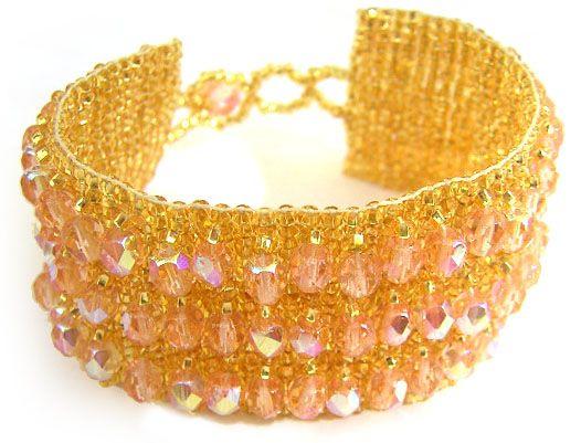 Crystal Cuff Bracelet - Blush | 2OKeefes.com