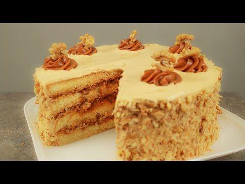 Torta manjar nuez - YouTube