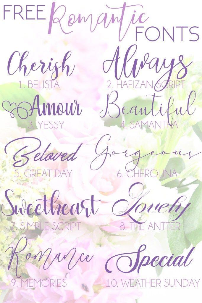 Download A collection of free romantic fonts you can download and ...