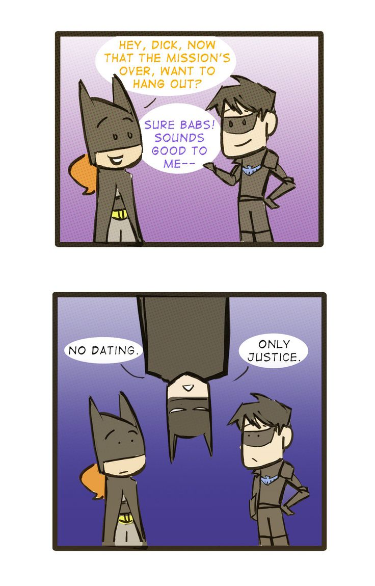 batman and batgirl dating advice