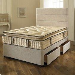 Dreyton Divan Bed with Superior Comfort 3000 Pocket Spring Pillow Top Mattress
