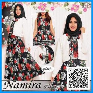 baju-gamis-maxi-dress-namira-flower-modern-mgs34