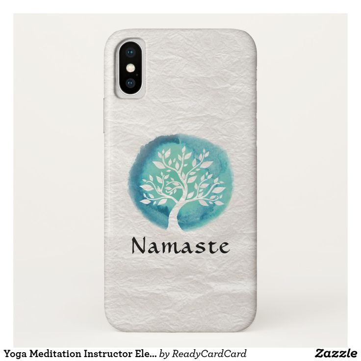 Namaste Yoga Meditation Instructor Elegant Watercolor Tree iPhone X Case