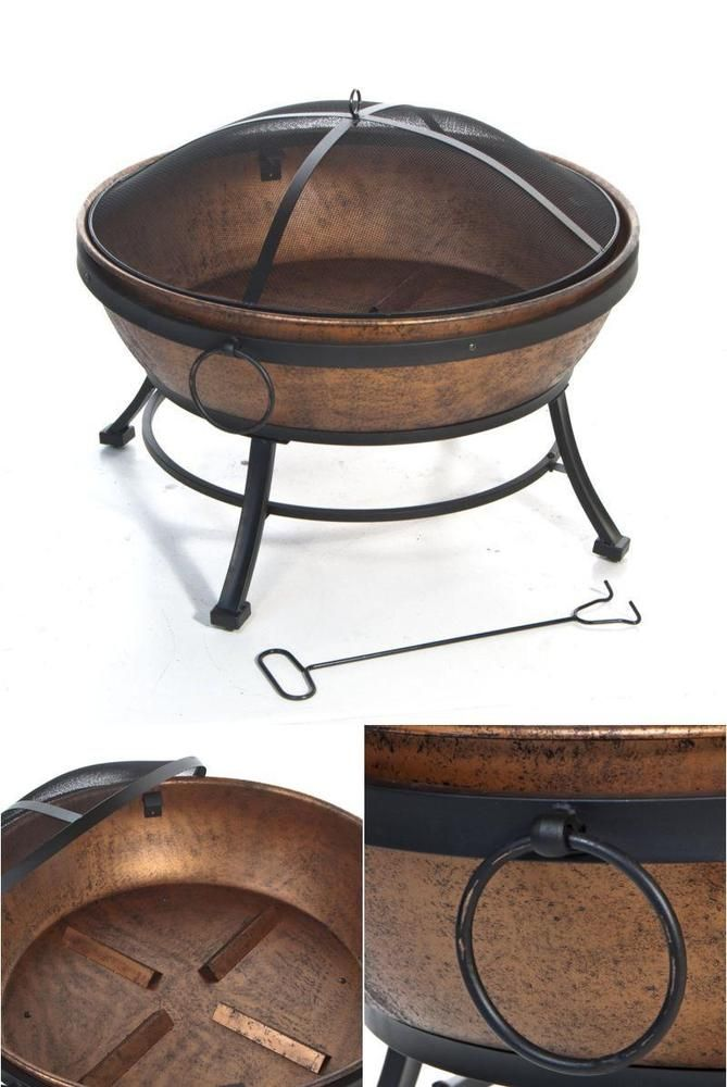 Outdoor Fire Pit Wood Burning Steel Fire Bowl Garden Decoration Screen Protector #DeckMate #fire,#pit,#garden,#yard,#patio,#set,#bbq,#outdoor,#wood,#burning,#bowl,#screen,#protector