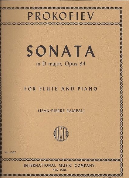 Sergei  prokofiev sonata per violino e pianoforte n.2 in D major, Op. 94