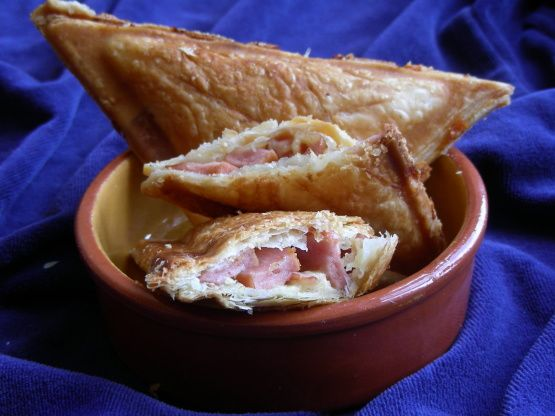 Puff Pastry Toasted Sandwiches In Your Sandwich Maker! Recipe - Cheese.Food.com: Food.com
