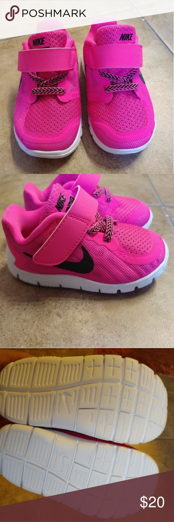 Nike 5.0 Toddler shoes size 5c New without box baby girl Nike 5.0 Running shoes they are Bright Pink Nike Shoes Sneakers