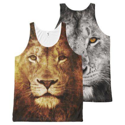 Lion OF Judah - Jah Rastafari - Tanktop All-Over-Print Tank Top - #customizable create your own personalize diy