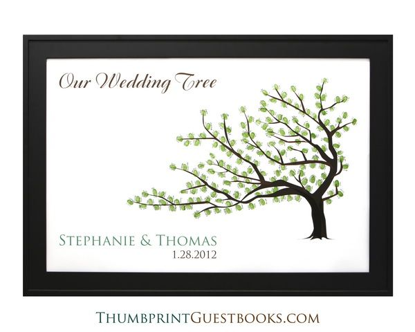 Thumbprint Wedding Tree Guest Book This Could Be The Cover And Then Inside Have Notes