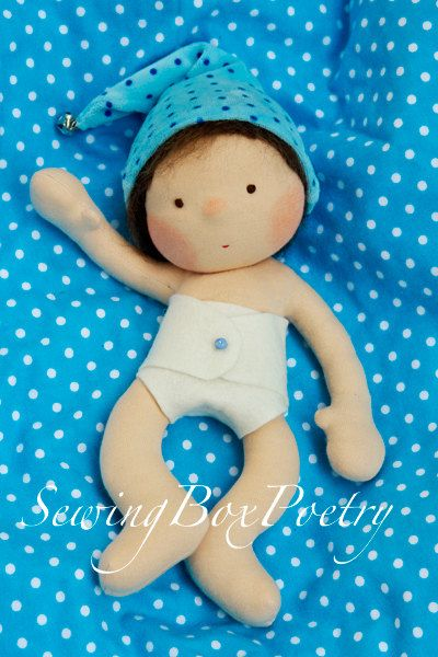 Waldorf doll Waldorf inspired Baby doll by SewingBoxPoetry