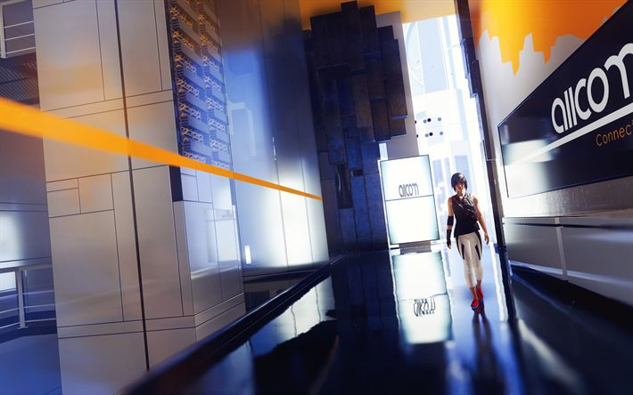 Download wallpapers 4k, Mirrors Edge Catalyst, 2018 games, Action-adventure