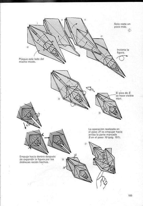 kunihiko kasahara y Toshie Takahama (Papiroflexia) - Origami para expertos 154_page154