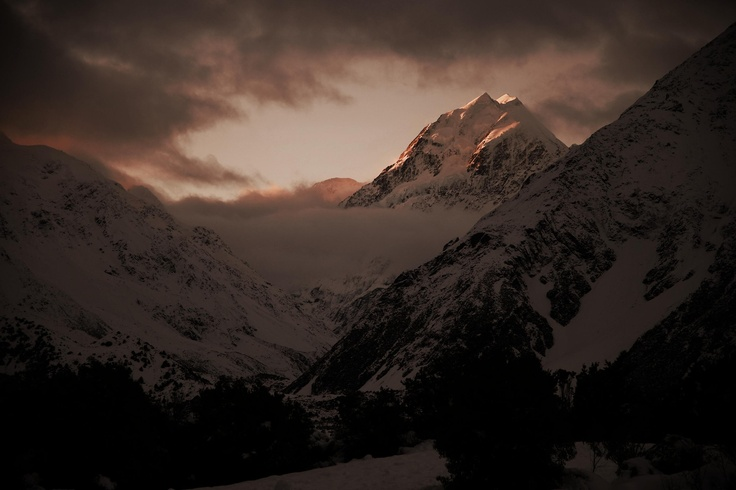 Mt Cook at Sunset