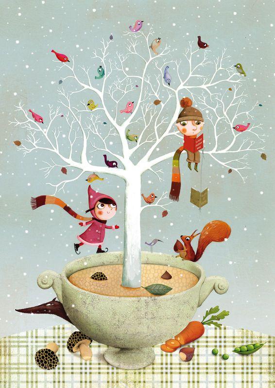 Soupe de l'hiver, illustration de Marie Desbons