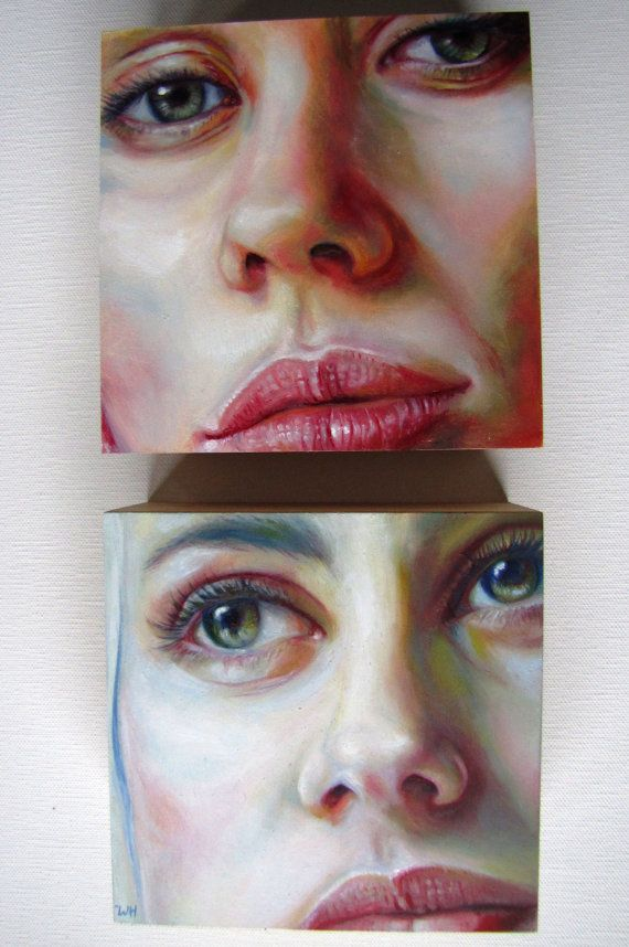HarleyJ by WillowHeath on Etsy, Oil Portrait Modern Mini 5X5 - could do close ups on the human body?