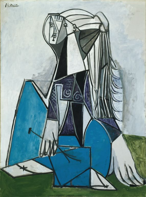 Pablo Picasso / Portrait of Sylvette David / 1954 / Art Institute of Chicago / Oil on canvas