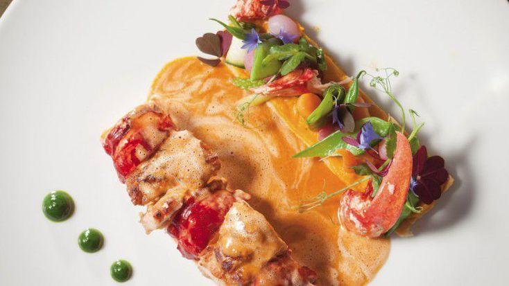 Ris de veau et homard rôti aux sucs de crustacé