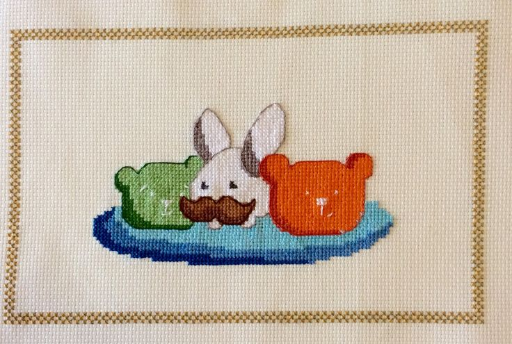 A personal favourite from my Etsy shop https://www.etsy.com/au/listing/229599341/pdf-cross-stitch-chart-eric-friends