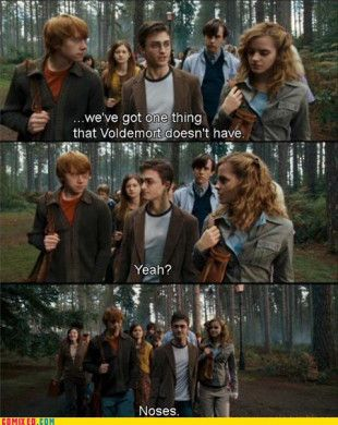 To Voldemort it doesn't matter if you're walking through a field of daisies or a garbage dump.: Stuff, Harrypotter, Funny, Movie, Harry Potter, Humor