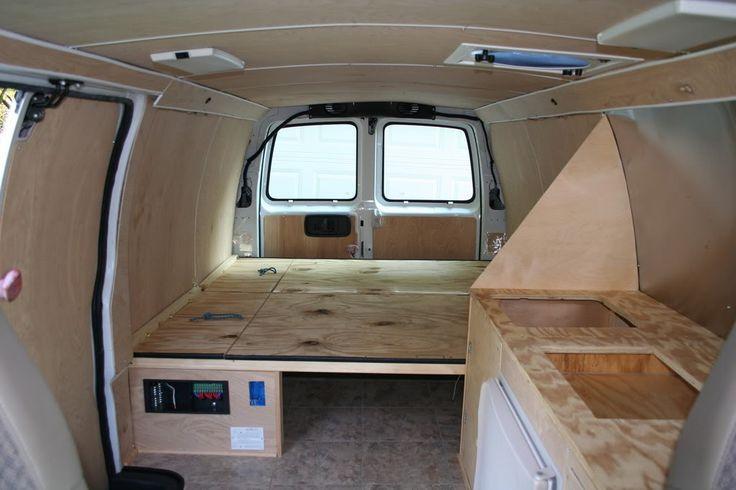 Interior Of Converted Camper Van 97 Chevy Van Project Class B