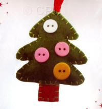 DoCrafts Mini Soft Christmas Kits - Tree.  Perfect for making your own Xmas Tree Decorations.