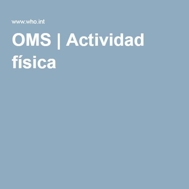 OMS | Actividad física