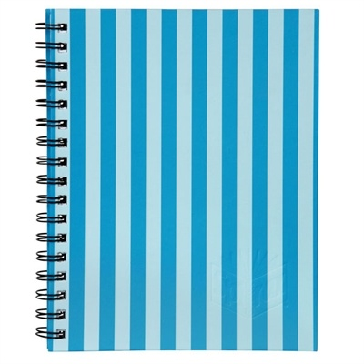 SPIRAX 511 NOTEBOOK HARD COVER A5 225 X 175MM STRIPE BLUE 200 PAGES