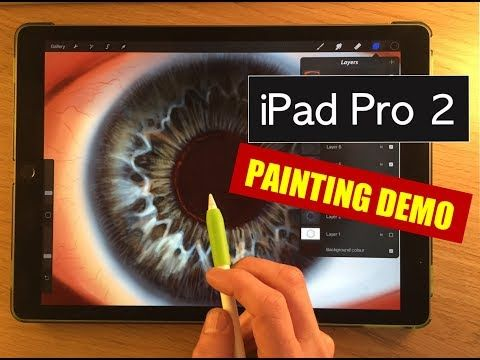 (361) IPAD PRO 2 PAINTING TEST - How to paint an eye procreate tutorial with Apple Pencil - YouTube