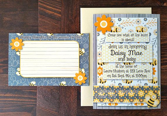 Check out this item in my Etsy shop https://www.etsy.com/listing/531848748/bumble-bee-invitation-bumble-bee-baby