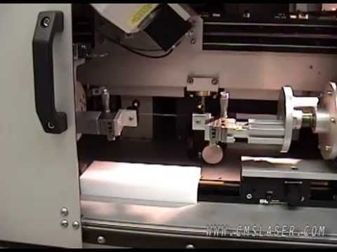 Laser welding plastic for use in the medical device industry using Control Micro Systems laser welding system, with CCTV for part alignment.