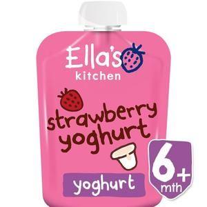 Ella's Kitchen Strawberry Yoghurt 6 mth 90g 3.2 oz