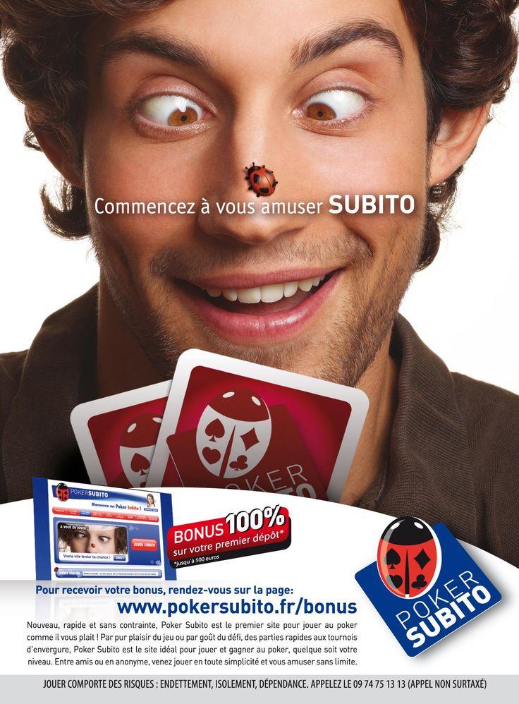 Campagna multisoggetto di lancio del sito francese PokerSubito, dal posizionamento popolare e irriverente.