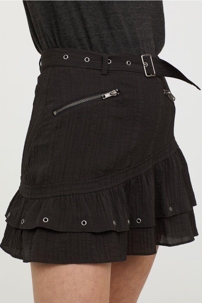 6e18bd0230fc Crinkled nederdel med bælte i 2018