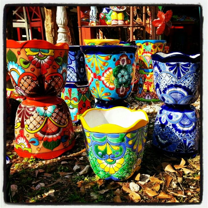 Mexican Garden Pottery $25 @Dori Fadness@ble find these at Barrioantiguofurniture.com
