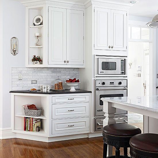 Elegant Kitchen Makeover Take Two Corner Cabinet Kitchencorner Cabinetswall