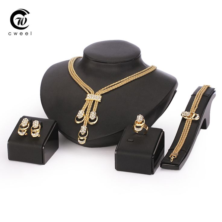 Jewelry Set For ⑧ Women Gold Plated Beads Collar Necklace 웃 유 Earrings Bracelet Fine Rings Sets Party Costume Latest Fashion TrendyJewelry Set For Women Gold Plated Beads Collar Necklace Earrings Bracelet Fine Rings Sets Party Costume Latest Fashion Trendy