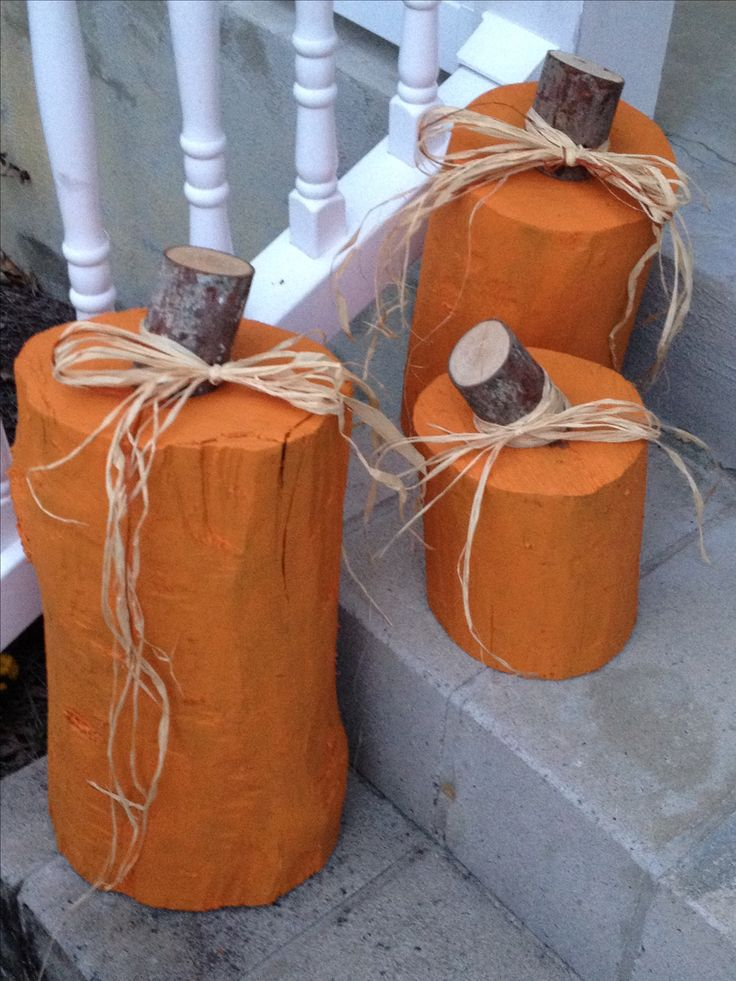 Tree Stump Pumpkins. Use them year after year!!