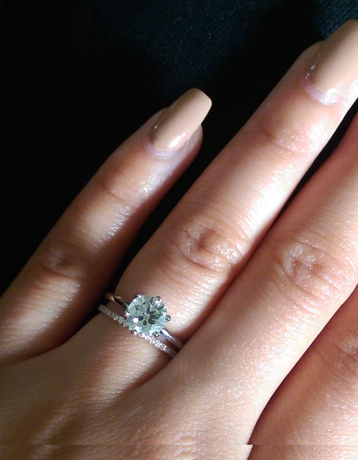 Help chosing my solitaire! Plain or Paved diamond band! - Weddingbee