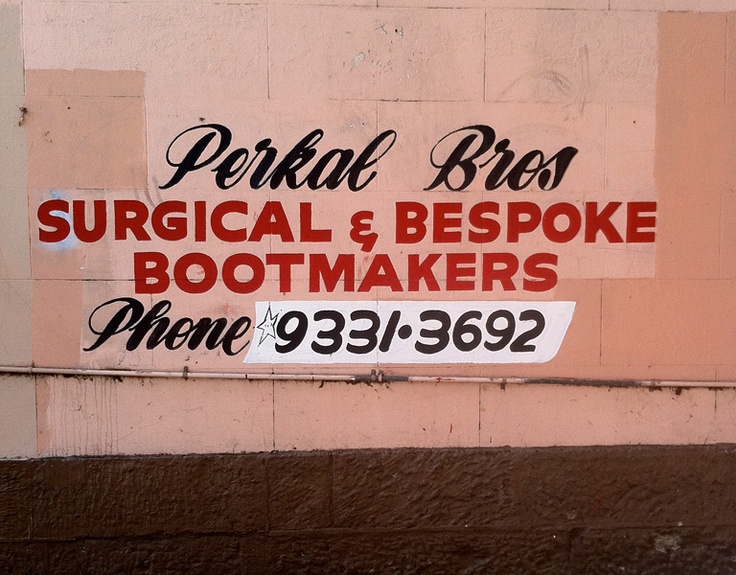 Get some bespoke shoes made from the Perkal Brothers in Surry Hills in inner Sydney, now in their 80s.