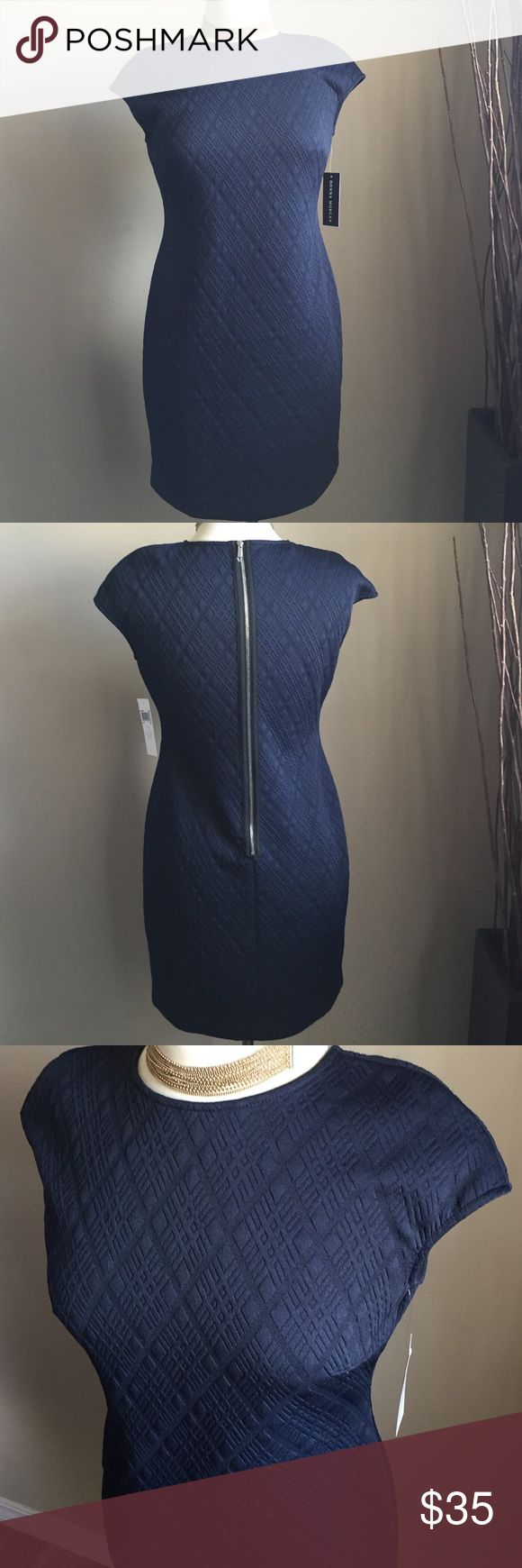 Donna Morgan Dress Donna Morgan textured sheath dress, navy blue, new missing tags Donna Morgan Dresses Mini