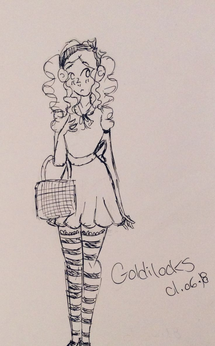 Short doodle of my version of Goldilocks and the three bears