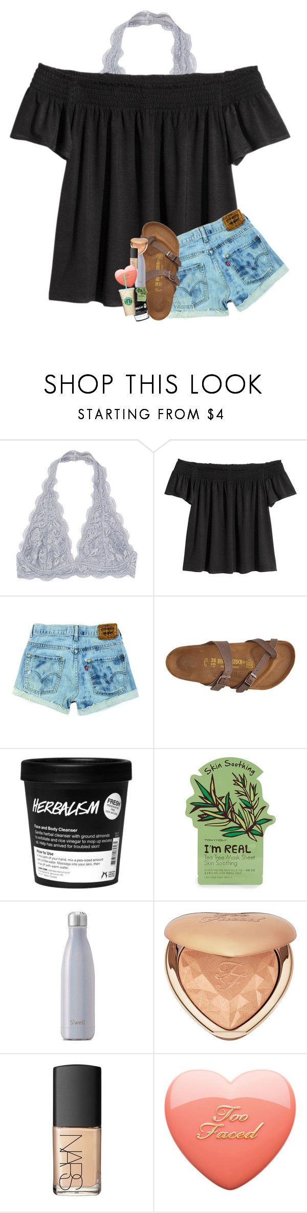 """"" by southernmermaid ❤ liked on Polyvore featuring Birkenstock, Tony Moly, Too Faced Cosmetics and NARS Cosmetics"