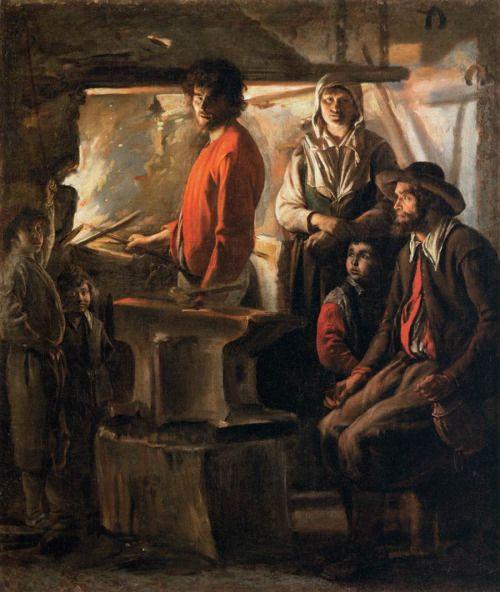 The Blacksmith at His Forge, Le Nain Brothers (Antoine, Louis, and Mathieu Le Nain), ca. 1640