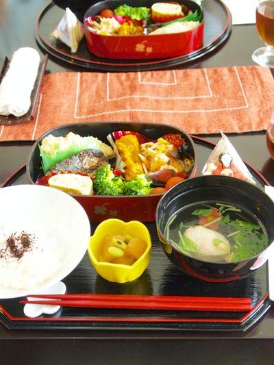 おもてなし】お昼ごはん☆「三段重でお弁当」&数の子と青豆の和え物 ...
