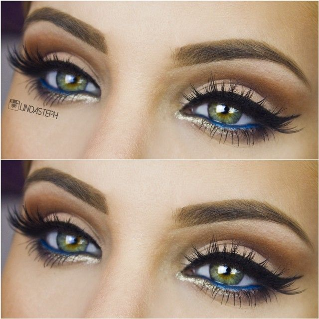 Love the blue liner on the wet line with the gold beneath. Gorgeous!