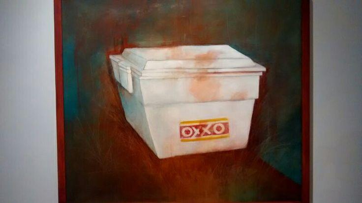 Pintura de hielera de oxxo. Museo Musas, Hermosillo, sonora México.